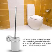 Toilet Brush Holders w/ Suction Cup Cleaning Tools WC Bathroom Holder with Base