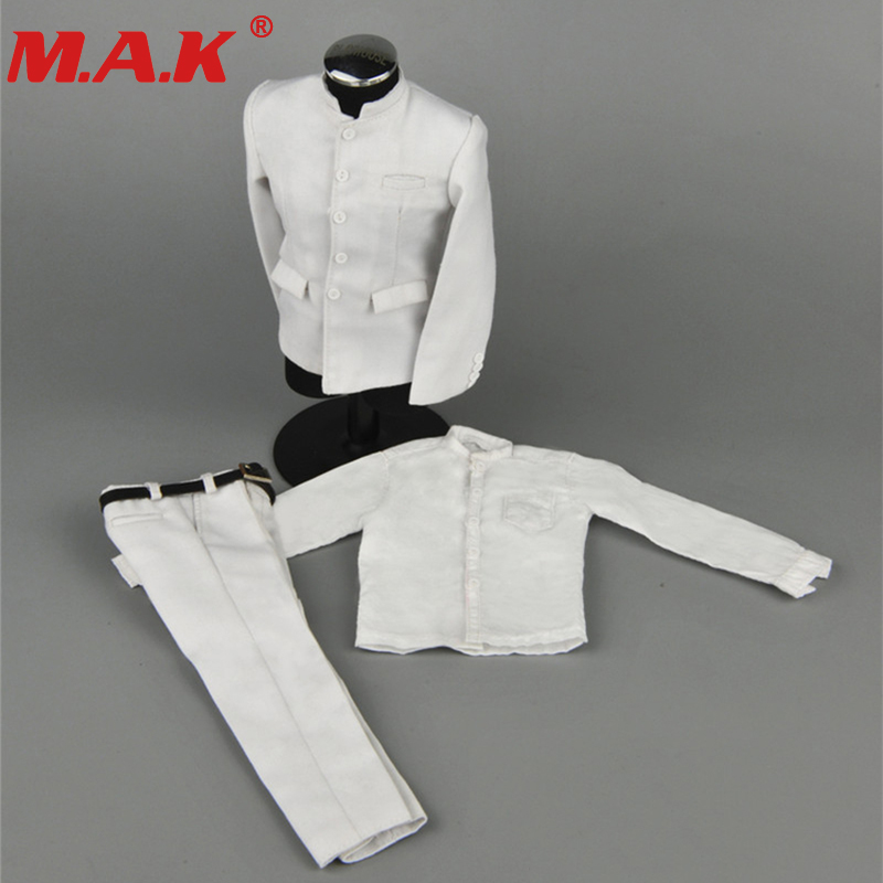 ZY16-16 1/6 male man Chinese Tunic suits clothes clothing set black/white color fit for 12 inches action figure accessories 1 6 scale batman the dark night joker the j bank robber suits clothes clothing fit for 12 male man action figure accessory