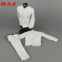 ZY16 16 1/6 male man Chinese Tunic suits clothes clothing set black/white color fit for 12 inches action figure accessories