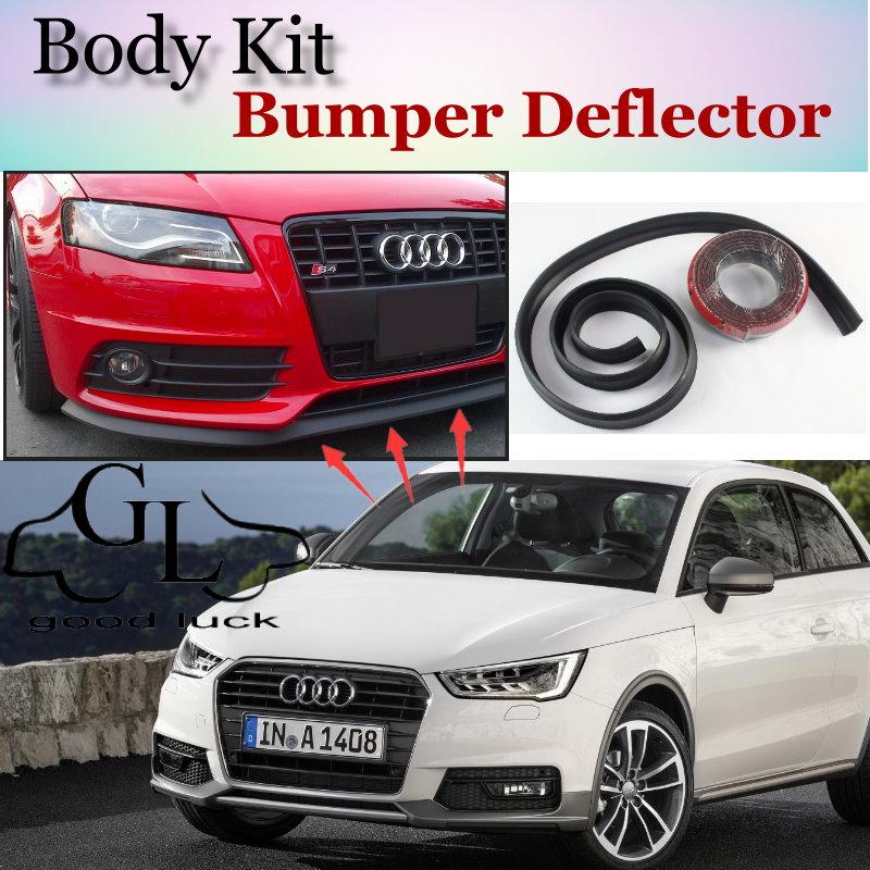 Bumper Lip Lips For Audi A1 2010~2015 / Car Lip Shop Spoiler For Car Tuning / Scratch Proof Adhesive Body Kit + Car Lip Skirt