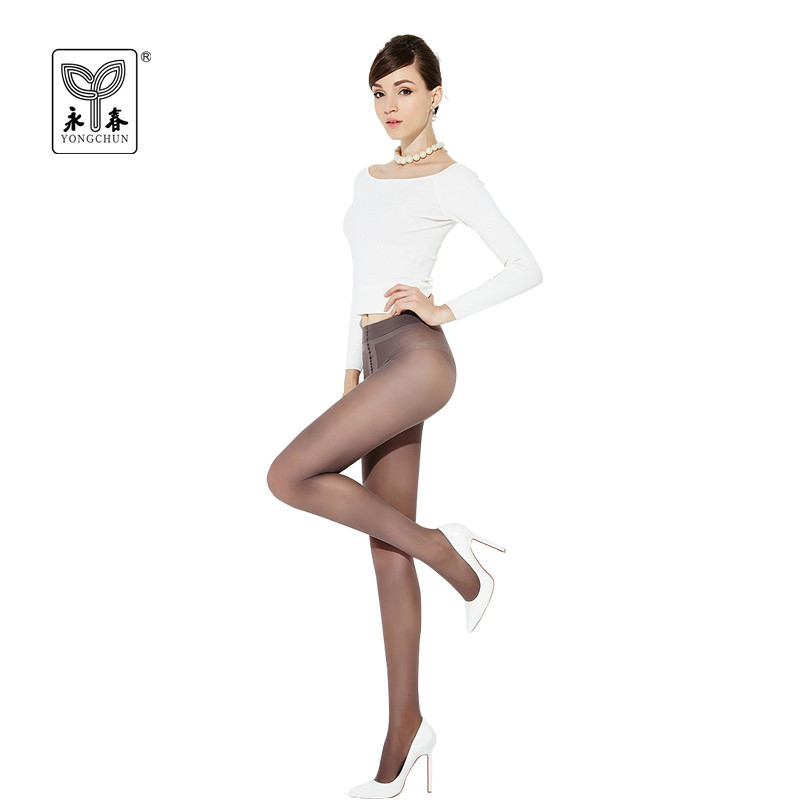 YONGCHUN 3Pairs Tights Pantyhose 45D T Crotch Stockings Spring and Autumn Silk Velvet Corset Shaping