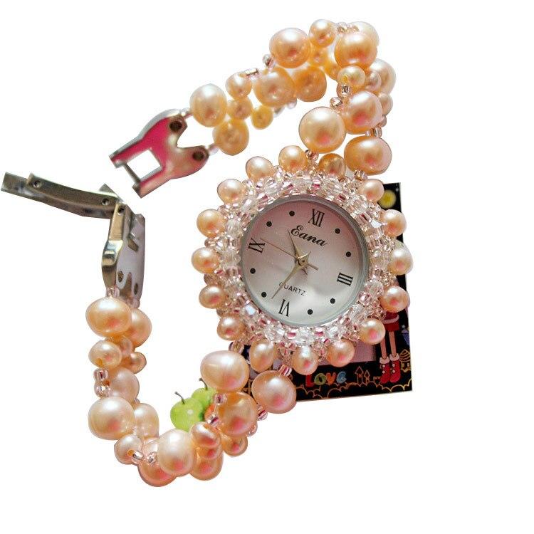 2020 offre spéciale nouveau 3 couleur tache authentique naturel perle Bracelet montre femme Table supermarché bijoux boutique approvisionnement montres