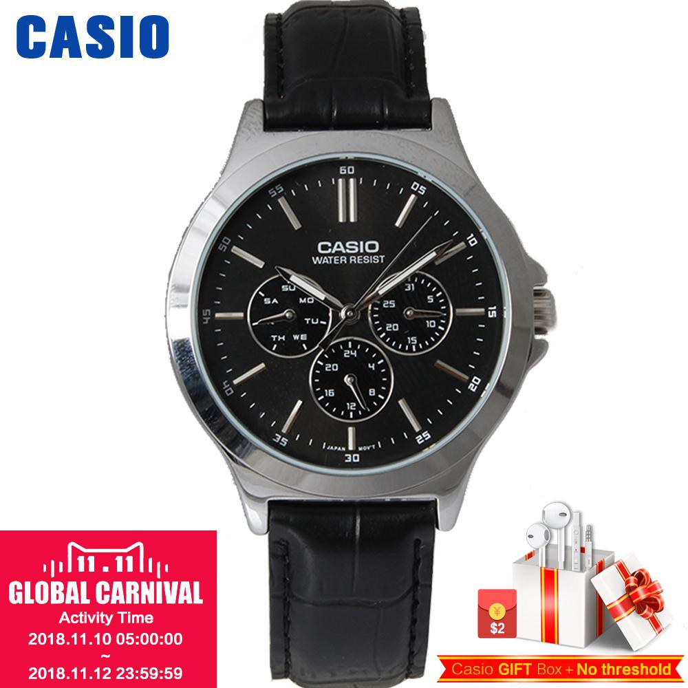 Casio watch Pointer series male watch fashion business watch quartz MTP-V300D-1A MTP-V300D-7A MTP-V300GL-9A MTP-V300L-1A casio watch men s business casual waterproof watch mtp 1383d 7a mtp 1384d 1a mtp 1384d 7a mtp 1384l 1a mtp 1384l 7a