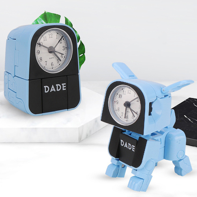 12 Hours digital smart alarm clocks for bedrooms with battery backup, Child Like Transformer Toy Cute Cat  Desk Watch