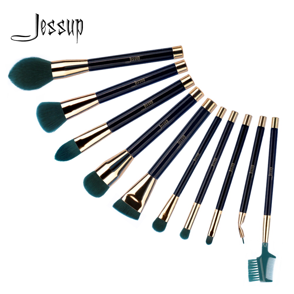 Jessup Brushes 10pcs Makeup Brushes Sets Synthetic Hair Foundation Powder Lash Brow Grommer Cosmetics Tools T252/T253/T254 jessup 10pcs makeup brushes sets beauty synthetic hair make up brush tool foundation powder lash brow grommer cosmetics tools