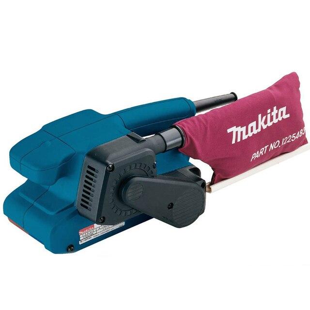 Машина шлифовальная ленточная Makita 9911 (Пылесборник, фиксация кнопки включения)