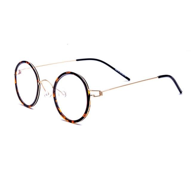 9dd33317fb Gafas creativas con forma redonda para hombre, gafas sin montura, mujer,  ópticas, montura de grau Unisex