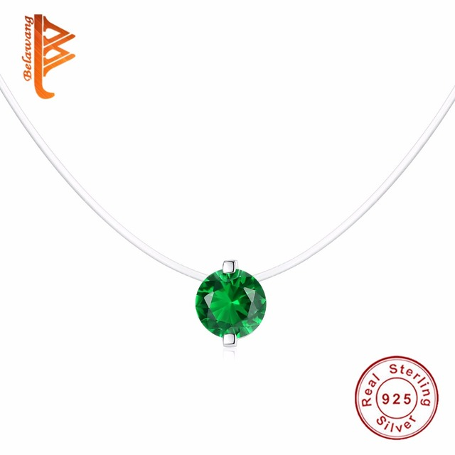 Chain Necklace Green Crystal for Women Rhinestone Charm Necklaces Pendants Choker mujer Jewelry