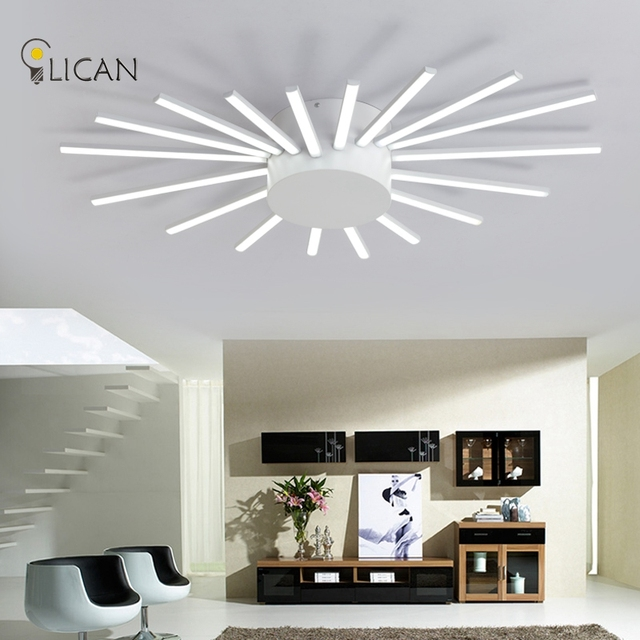 Lican Modern Led Ceiling Lights For Living Room Bedroom Lamp Fixture Acrylic Remote