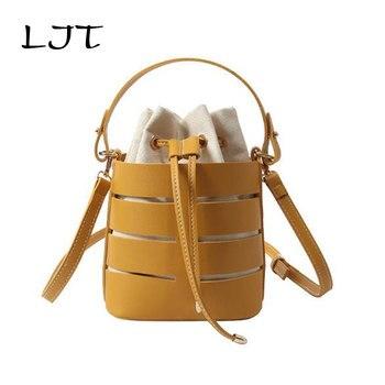 708621d768f6 LJT шикарная модная сумка-мешок для женщин 2019 Летняя Пляжная сумка из  искусственной кожи Сумка