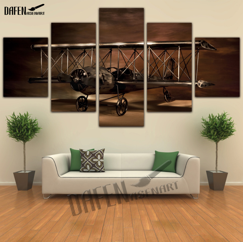Wall Art Painting Airplane Aircraft Model Biplane Canvas