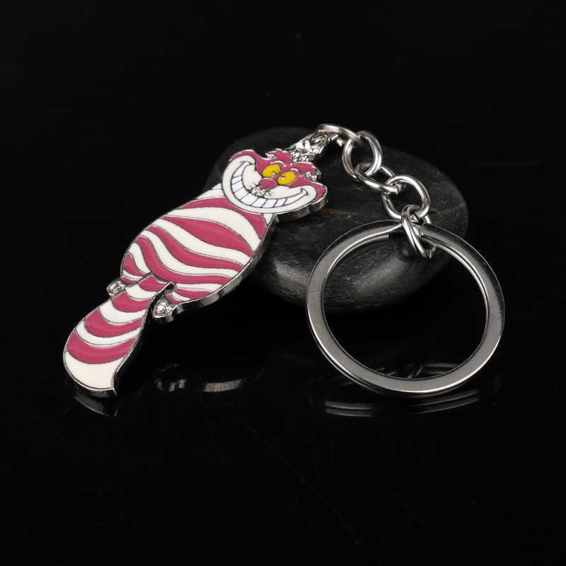 MQCHUN Trang Sức Độc Đáo Keychain Alice In Wonderland Cheshire Cat Mặt Dây Key Chuỗi Phim Hoạt Hình Dây Móc Khóa Ví Phụ Nữ Người Đàn Ông Gift-50