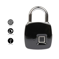Smart Keyless Fingerprint lock Biometric Waterproof Lock with Finger Print Security Touch Keyless Lock USB charge for Gym Locker
