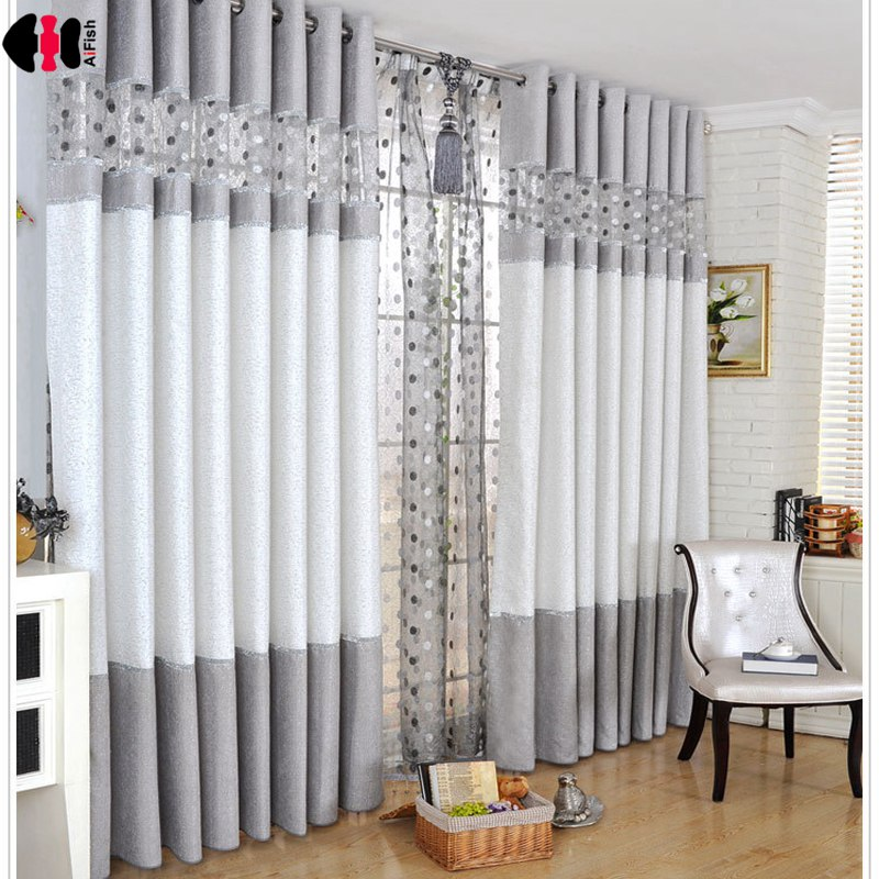Luxury Modern Chenille Curtains Stitching Bird Nest Bedroom Living Room Coffee French Window Treatment Cortinas WP221C(China)