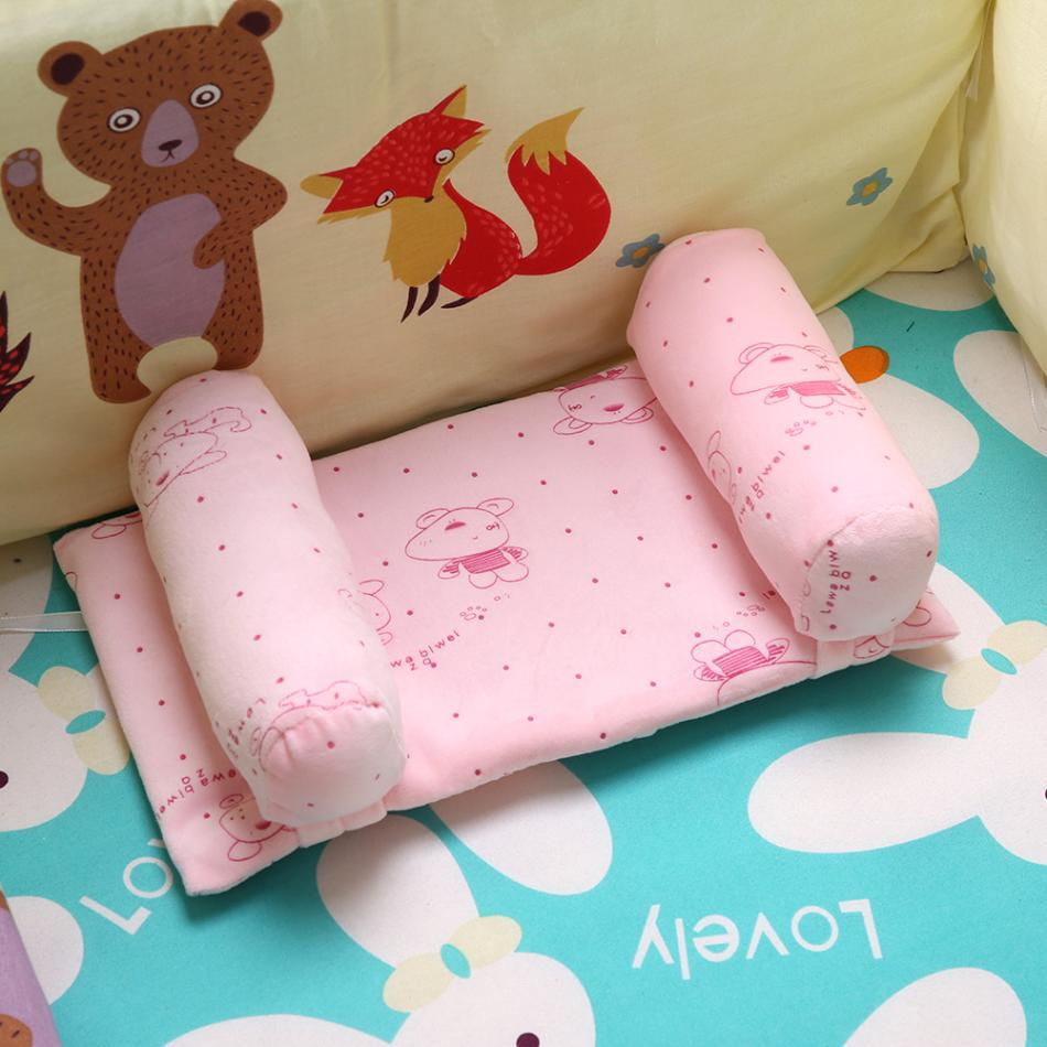 Newborn Baby Infant Cotton Pillow Positioner Prevent Flat Head Anti Roll SQ