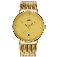 LIANDU Mens Watches Top Brand Luxury Men S Simple Stainless Steel Analog Quartz Wrist Watch Watches