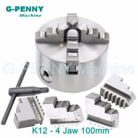 CNC 4th Axis A Axis 100mm 4 Jaw Chuck Self Centering Manual Chuck Four Jaw For
