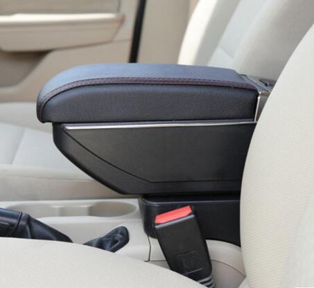 Автомобиля подлокотник для hyundai Accent RB Solaris 07-15 центр консоль ХРАНЕНИЯ подлокотник вращающийся 2012 2013 2014 2015