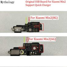 цена на Mythology Original For Xiaomi MIX 2 6G 8G USB Board Flex Cable Dock Connector Microphone Mobile Phone IC Support Quick Charger