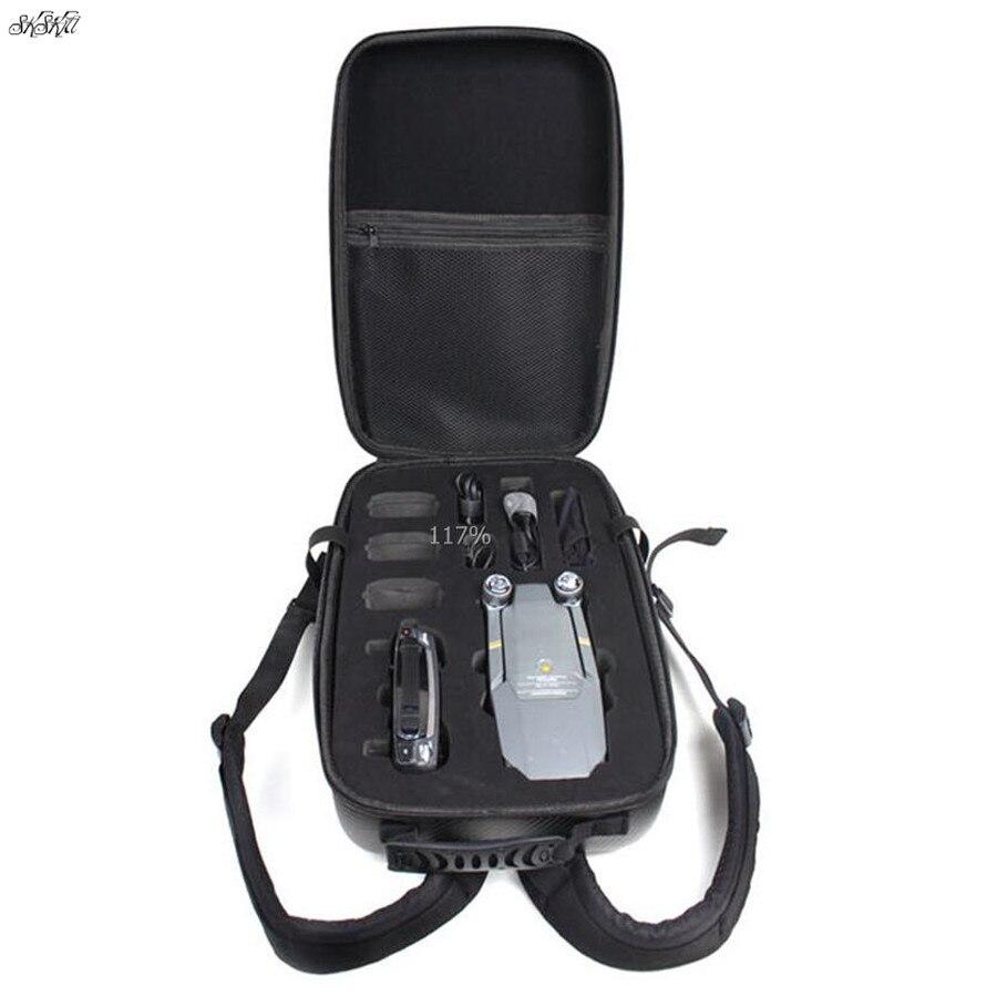 Drone непромокаемый рюкзак чехол из углеродного волокна кожи жесткий корпус сумка для хранения Коробка для DJI Mavic Pro Аксессуары для дрона