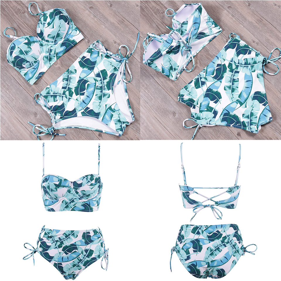 TCBSG Bikinis 19 Sexy Swimwear Women Swimsuit Push Up Brazilian Bikini set Bandeau Summer Beach Bathing Suits female Biquini 17