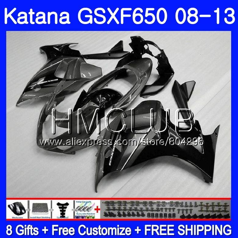 Комплект для SUZUKI KATANA GSXF 650 650F GSX650F 08 09 10 11 12 13 24HM. 19 серебристо серый GSXF650 2008 2009 2010 2011 2012 2013 обтекателя