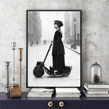 NOOG 1916 Scooter Wall Art Canvas Painting Nordic Posters And Prints vintage Decoration Picture Living Room Salon