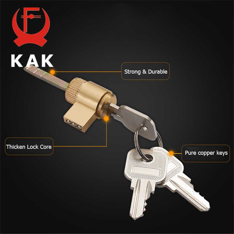 KAK Mute Mortice Sliding Door Lock Hidde Handle Interior Door Pull Lock Modern Anti-theft Room Wood Door Lock Furniture Hardware