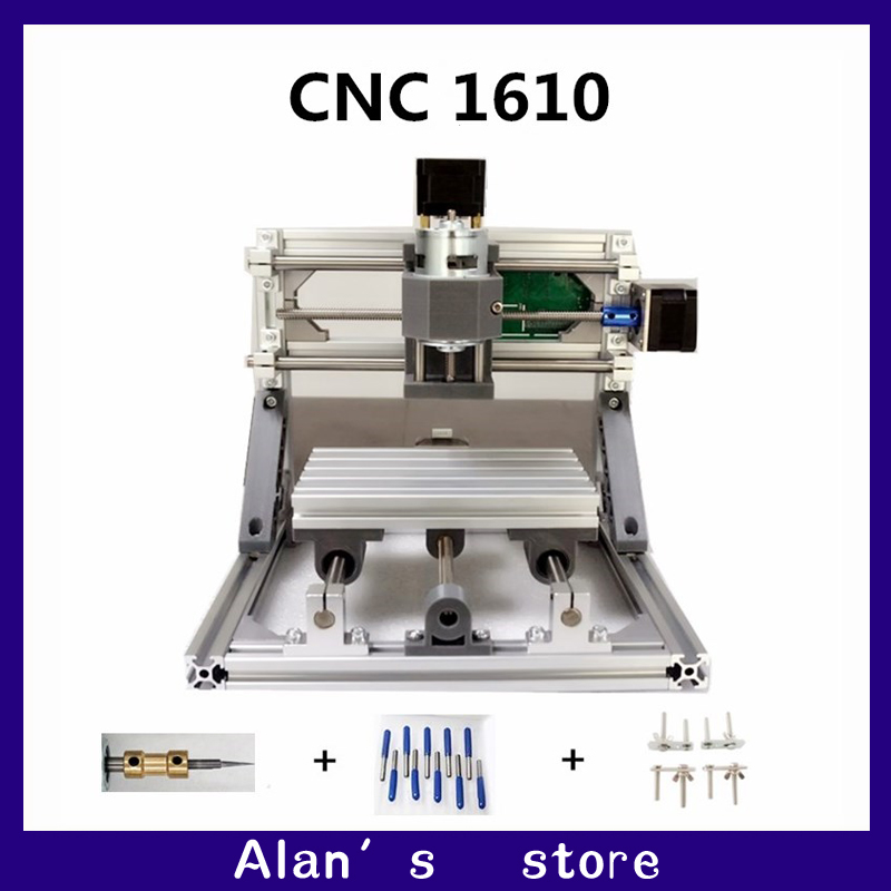 CNC DIY 1610 ER11 GRBL control mini CNC machine tools, PCB milling machine, laser engraving machine Woodworking router best toys