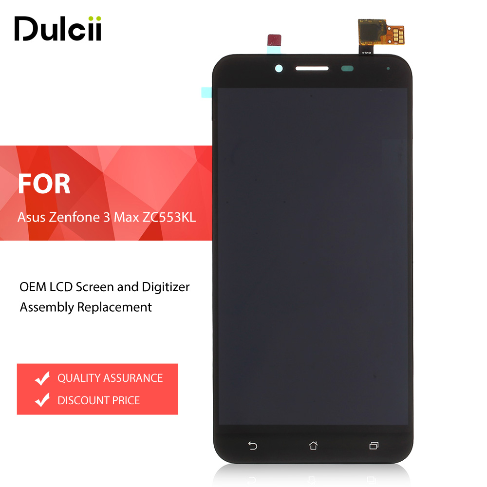 For Asus Zenfone3 Max ZC553KL LCDs OEM LCD Screen And Digitizer Assembly For Asus Zenfone 3
