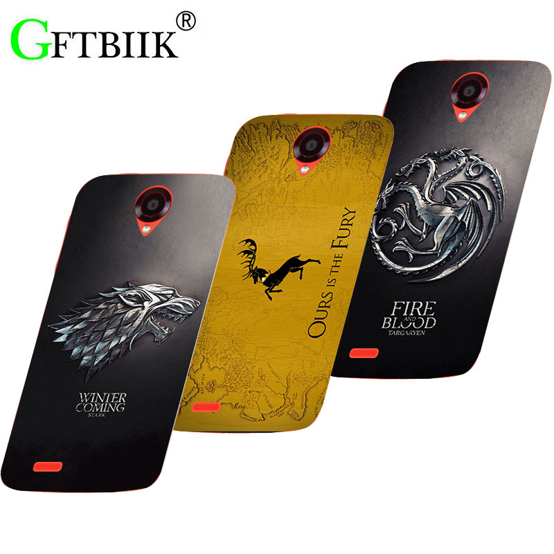 Cute Cartoon Case For Lenovo S650 S 650 Hard Plastic Pattern Shell Bag Fashion Printed Cover Game of Thrones 7