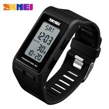 SKMEI Роскошные цифровые часы для мужчин и женщин, шагомер, калории, спортивные часы, водонепроницаемые светодиодные электронные наручные часы для мужчин