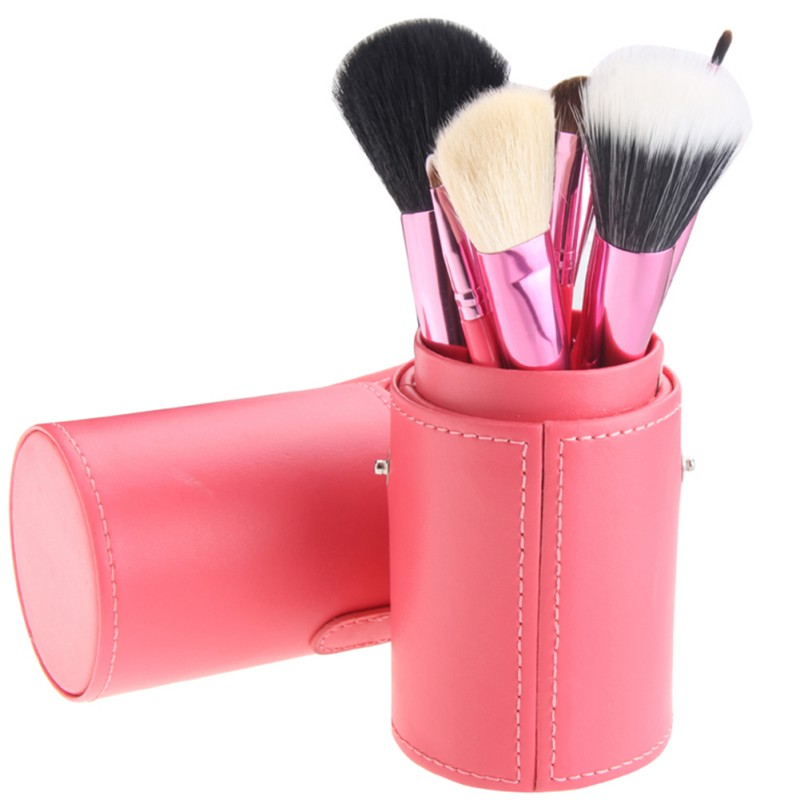 12pcs Makeup Tools Make Up Brush Case Brushes Holder Tube Professional Makeup Brush Set 3 x adjustable 1 4 pt thread sc sintered bronze exhaust muffler throttle valve