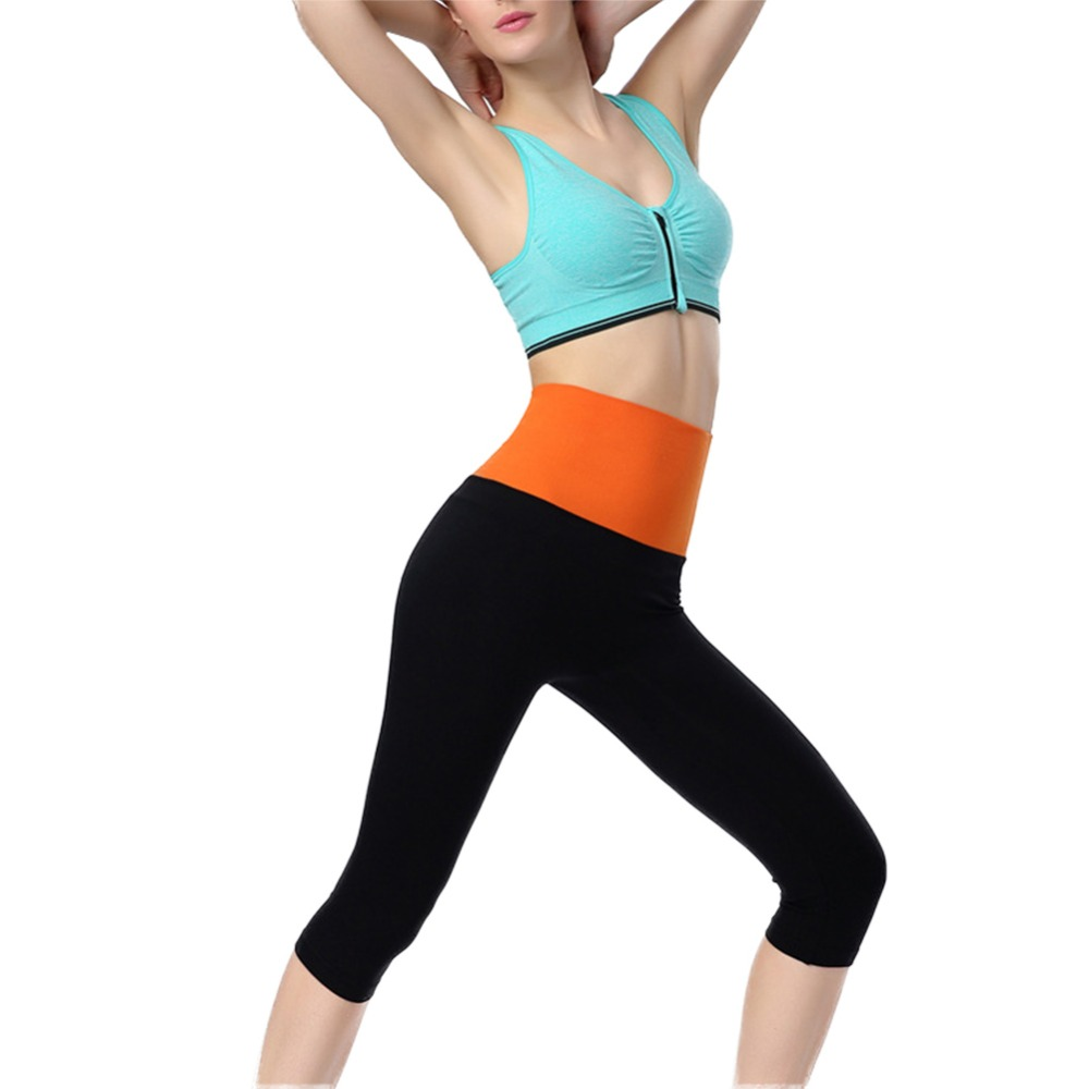 Women Yoga Sports Stretch Fitness Jogging Cropped Slim Leggings Pants