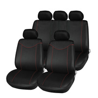 T21638 11pcs Car Low Back Seat Cover Set Anti Dust Auto Cushion Protector Universal Fits Red