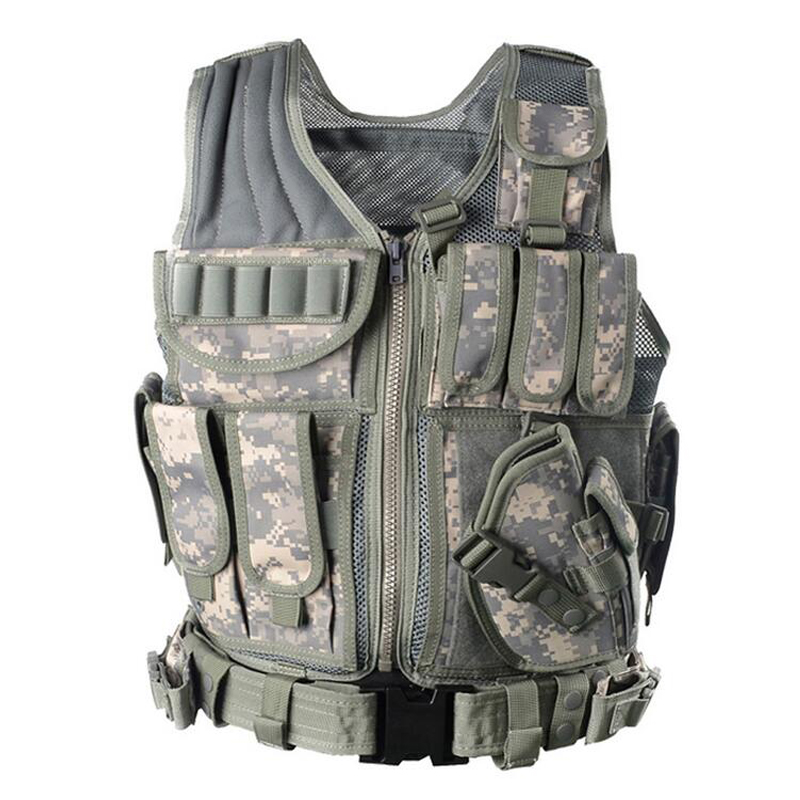 Camo Hunting Vest Men Tactical Molle Military Paintball Assault Shooting Outdoor Body Armor
