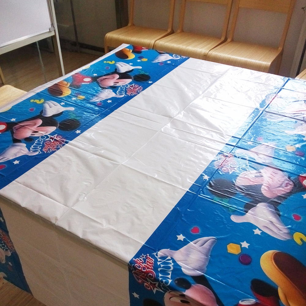 108cm*180cm Mickey Mouse Party Supplies Tablecloth  Favor Kids Birthday party Decoration
