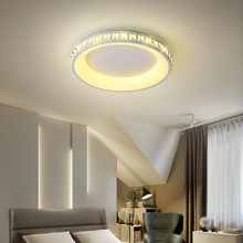 цена на Modern led ceiling light dimmable fixtures bedroom Crystal lights for living room kitchen decorative round home ceiling lamp
