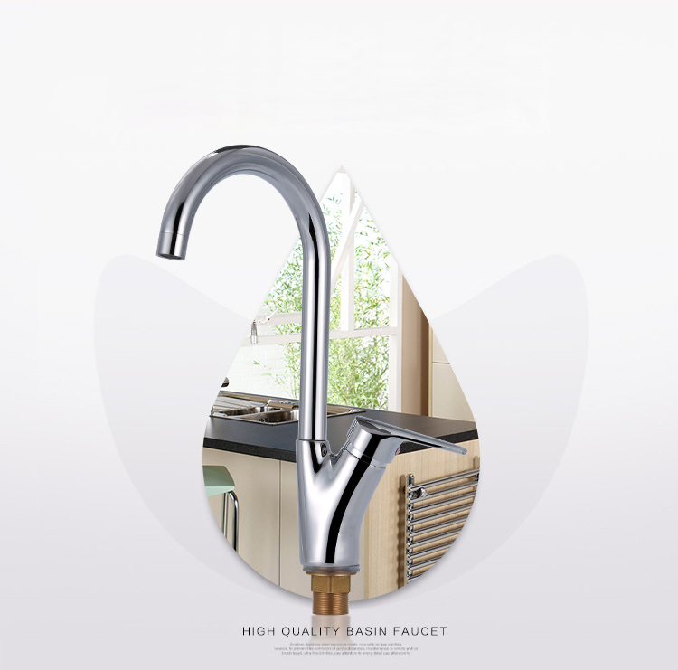 Free shipping deck mounted kitchen sink faucet with single handle kitchen faucet of solid brass kitchen