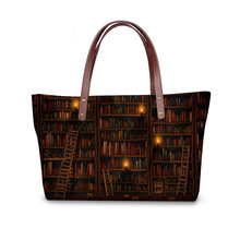 Women Shoulder Bag Casual Tote Bolsa for Teenager Girls Top-handle Bags Vintage Library Shopper Bag Beach Handbag Clutch(China)