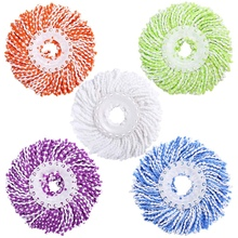Microfiber Cotton Spin Mop Heads Replacement - 5 Pack Refills Compatible 360 Spinning Magic Mops Round Shape Standard Size M