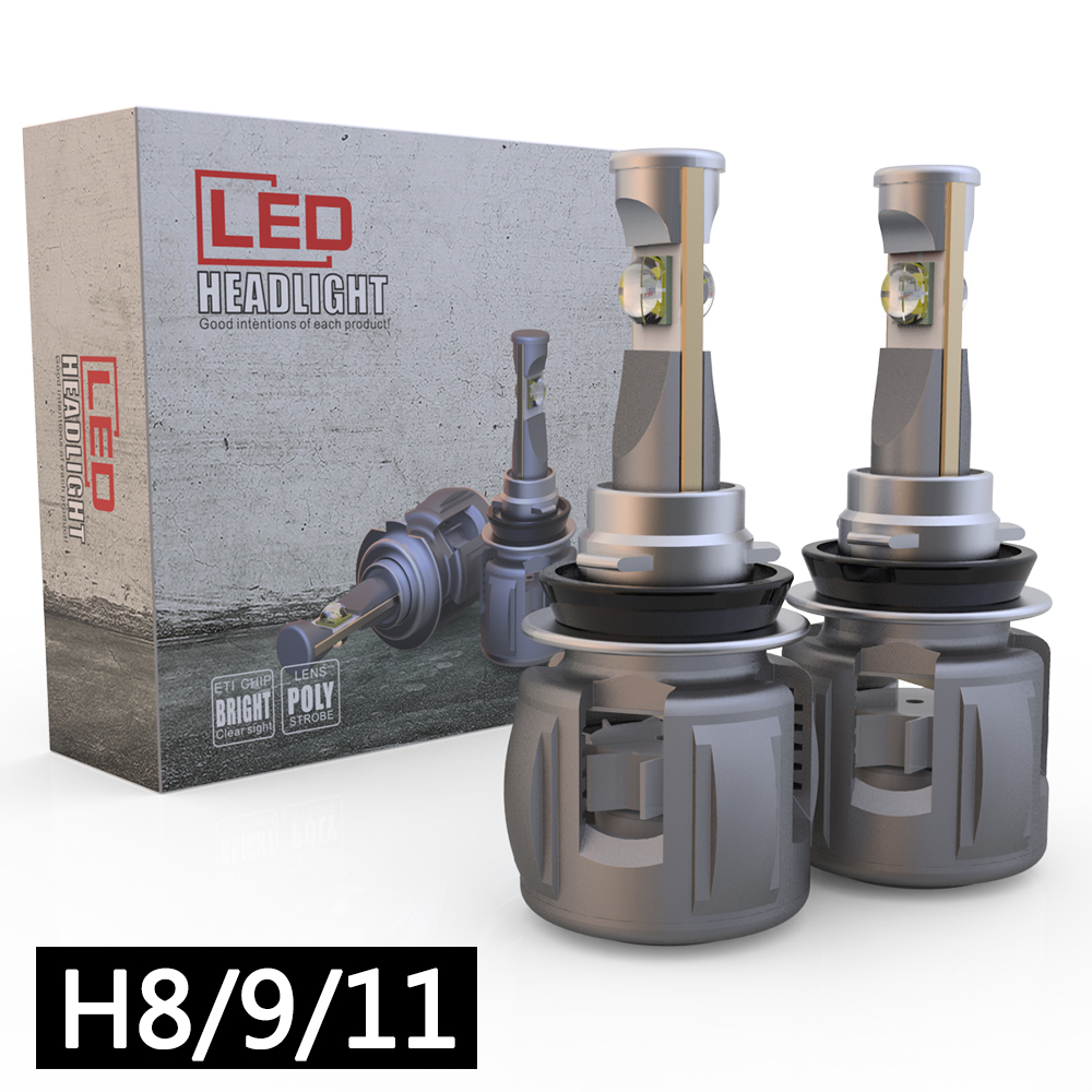 Replace High Low Beam Driving Fog Lamp original HID Bulbs H8 H9 H16 120W 12000LM 12V H11 LED Headlight Bulb Conversion Kit 6000k