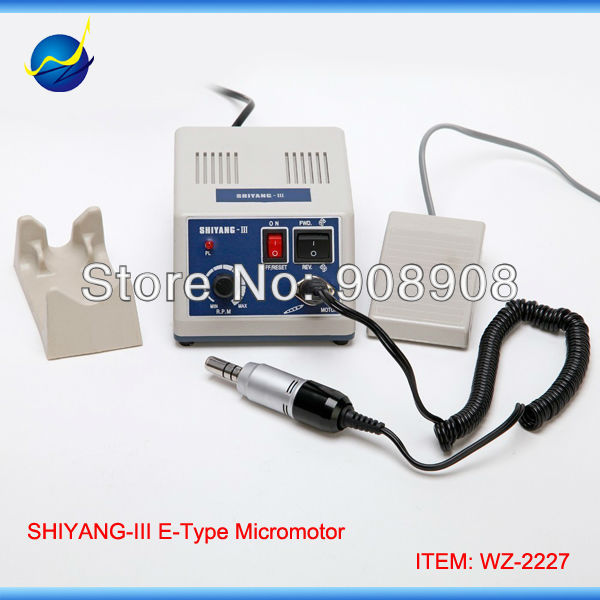 100-120V/200-240V Dental Laboratory Hobby Gem Electric SHIYANG-III Micromotor 35000 rpm SDE-E102S E-Type Motor Handpiece Grinder shiyang iii hand grinder power engine sde l102s handpiece 35k r m micromotor n3 dental lab jewelry stone nail file carving