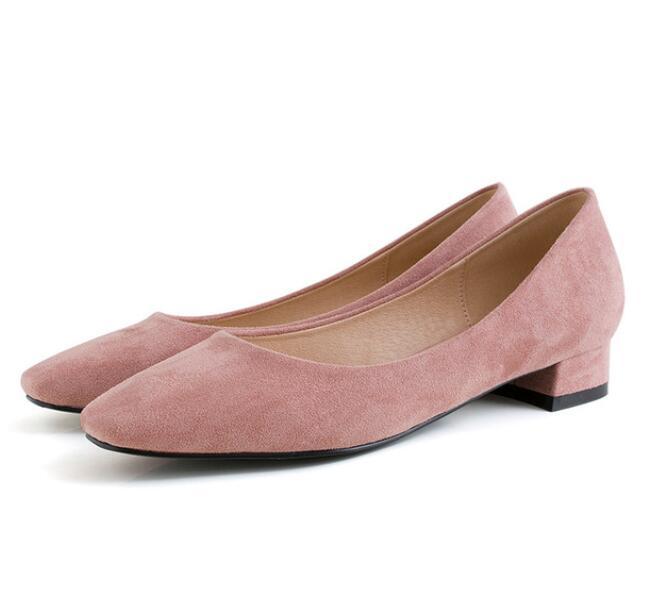 Beige Ensoleillé 40 Tête Filles Pompes Simple Femmes Chaussures Simples De Professionnelles Femelle Everest Littéraire rose Carrée Peu noir Profonde Bouche 34 UrnqxTU54