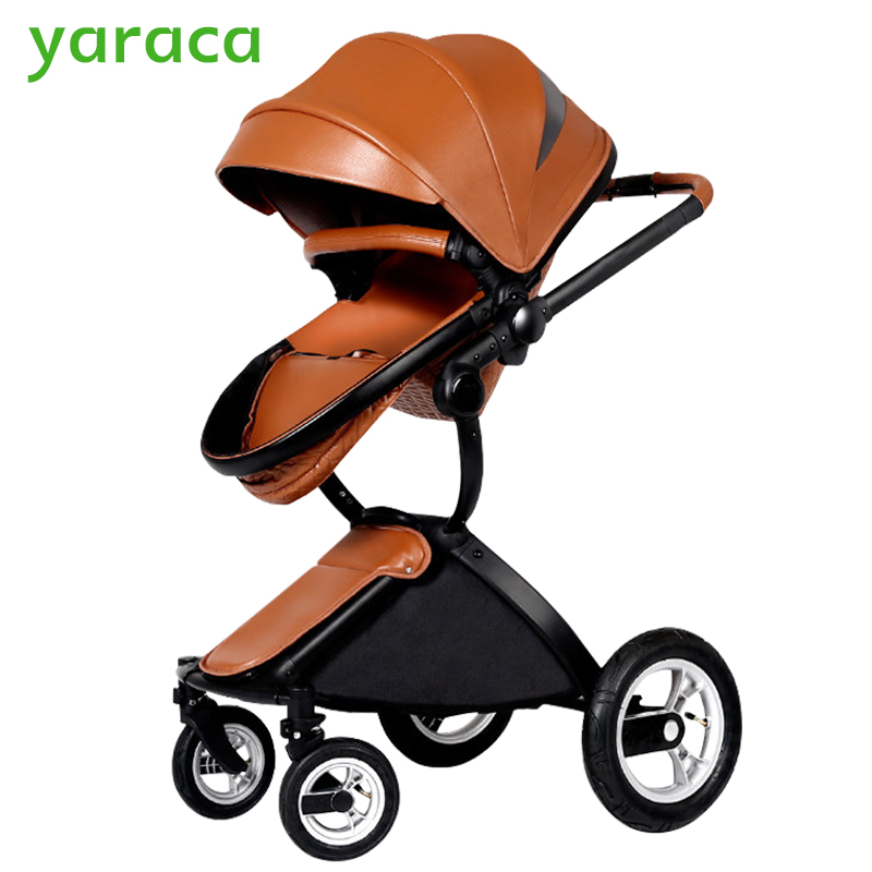 Luxury Strollers For Baby Foldable Portable Prams For Newborns Multifunction High Landscape Baby Carriage From Summer To Winter 2017 two babies strollers for twins old bebek arabasi prams for newborns baby girl