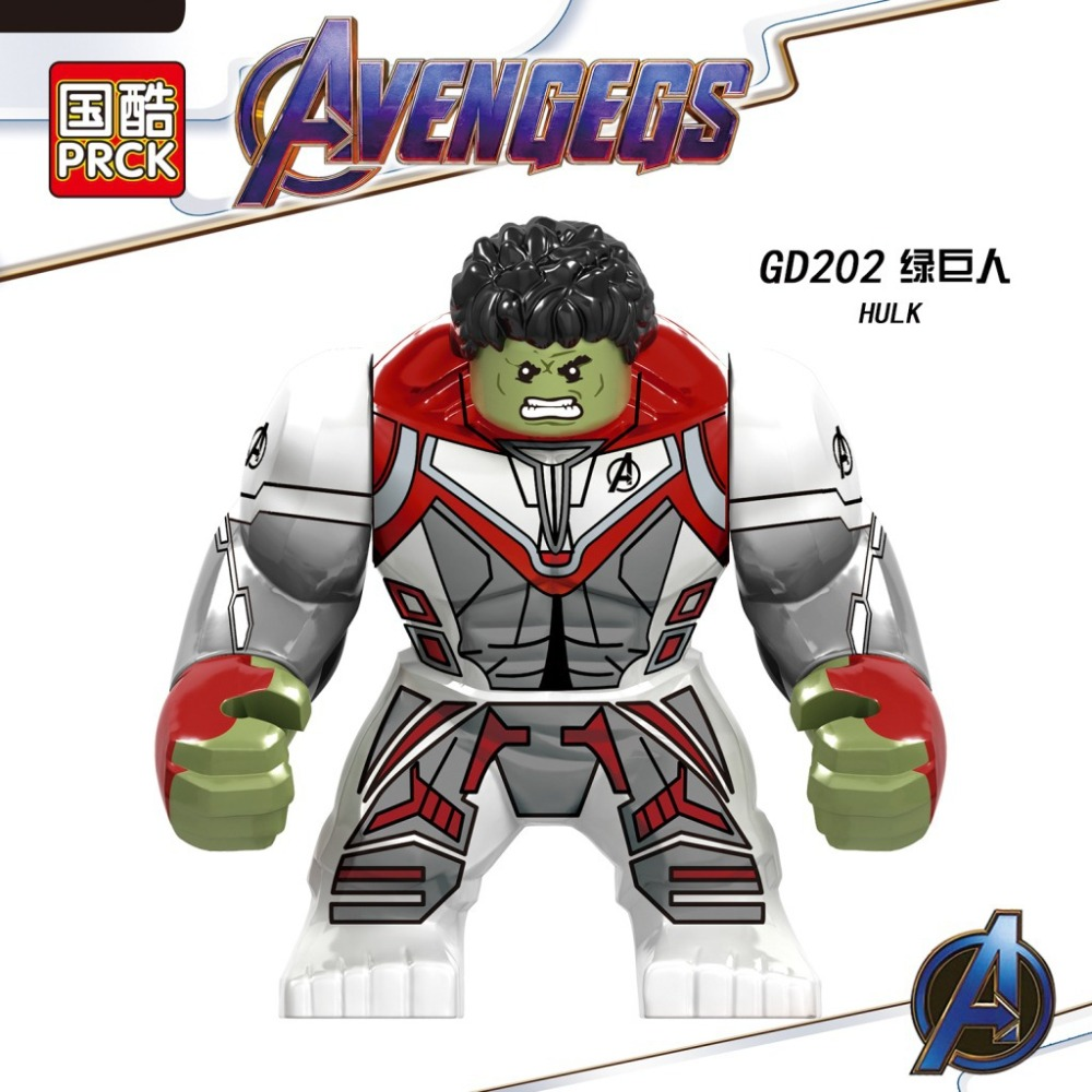 20pcs Marvel Big Size Spiderman Hulk Valkyria Battle Horse Iron Man Infinity Gauntlet Stones Avengers Building