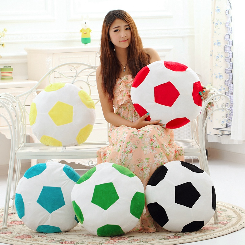 40 cm Diameter Football Plush Stuffed Toy Pillow Cushion For 2018  Russia Football World Cup Baby Fans world cup in south africa world cup model european soccer cup trophy custom football fans articles