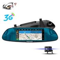 MAUSTOR 3 그램 자동차 DVR 안드로이드 5.0 GPS 네비게이션 백미러 7 인치 IPS 터치 스크린 자동차 카메라 FHD 1080 마력