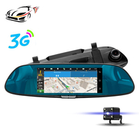 MAUSTOR 3G Car DVR Android 5 0 GPS Navigation Rear View Mirror 7 Inch IPS Touch