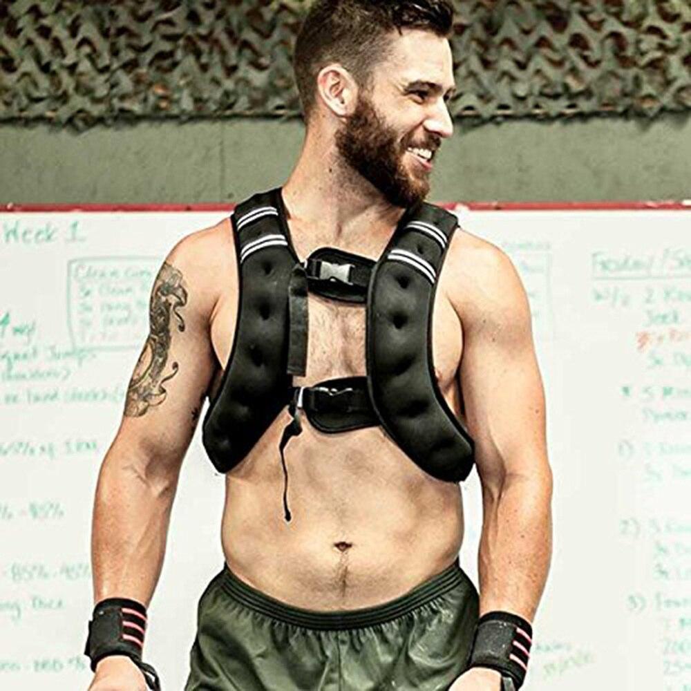 10kg peso de carga ajustável agravado colete colete esportes boxe treinamento invisível carga correr equipamentos fitness